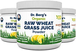 Dr. Berg's Organic Raw Wheat Grass Juice Powder with KamutTM - Natural Lemon Flavor - Rich in Vitamins, Chlorophyll & Trac...