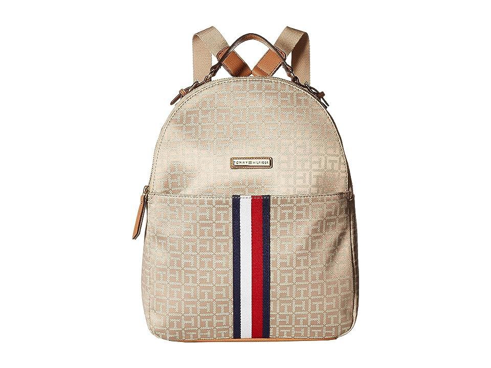 Tommy Hilfiger Mira Backpack (Khaki Tonal) Backpack Bags