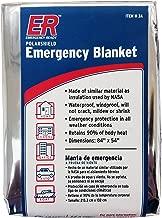 ER Emergency Ready 3AQK-4PK Thermal Mylar Blankets, Pack of 4
