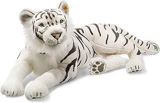 Steiff 075742 Tuhin Tiger Plush Animal Toy, White