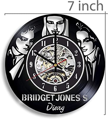 Gifts by N Bridget Jones's Diary Vinyl Record Wall Clock, Bridget Jones's Diary Movie, Bridget Jones's Diary Artwork, Movie Art, Bridget Jones's Diary Decor