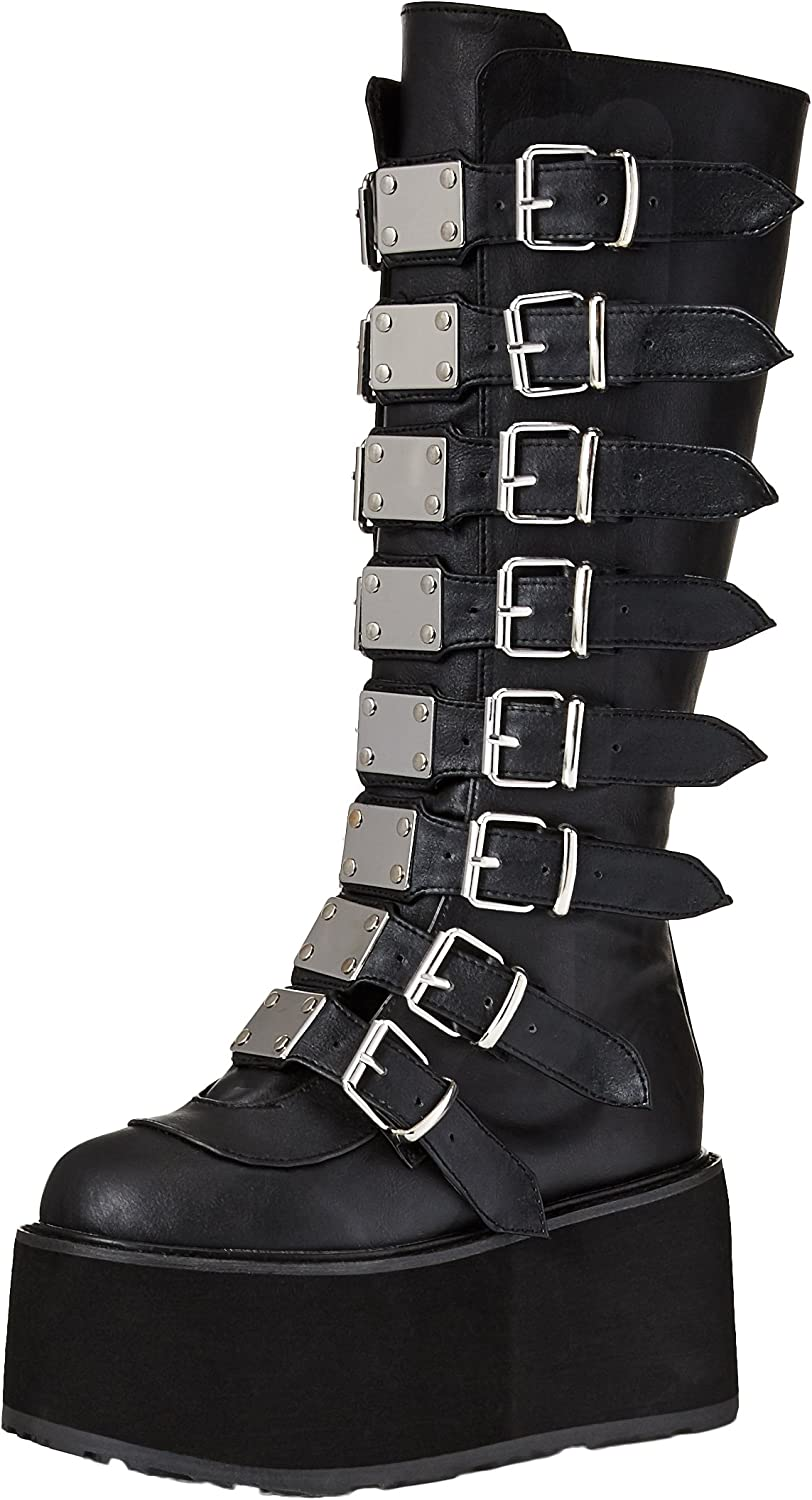Demonia Womens DAMNED-318 Knee High Boot