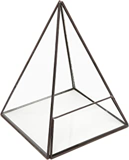 Modern Glass Pyramid Tabletop Succulent Plant Terrarium Box/Air Plant & Cacti Holder Case - MyGift