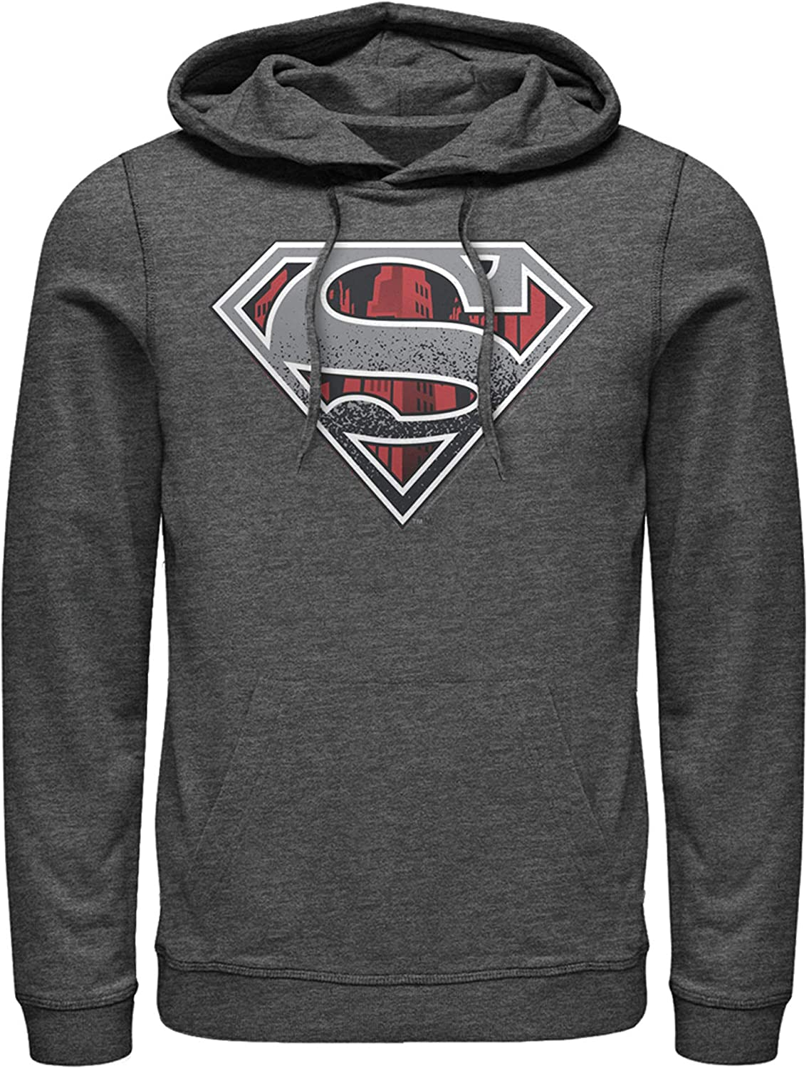 Fifth Sun Men's Superman Washington Mall Logo Outlet ☆ Free Shipping Pull Over Grunge Hoodie
