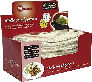 Metaltex 735003 - Juego de 2 Mallas para legumbres, 1 kilogramo