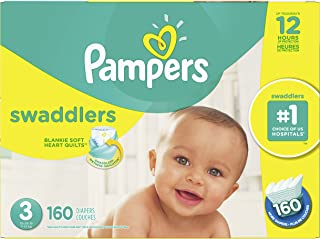 Pampers Diapers Size 3, Swaddlers Disposable Baby Diapers, 160 Count, Economy Pack Plus