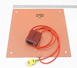 KEENOVO Silicone Heater 400x400mm 1000W for Creality CR-10 S4 3D Printer HeatedBed w/Digital Controller & Pre-made Screw Holes (120V)