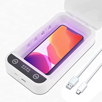 Cellphone Cleaning Box Phone Soap Mobile Phone Cleaning Box   USB Charging for iOS Android Phone Toothbrush Jewelry Watches Makeup Box