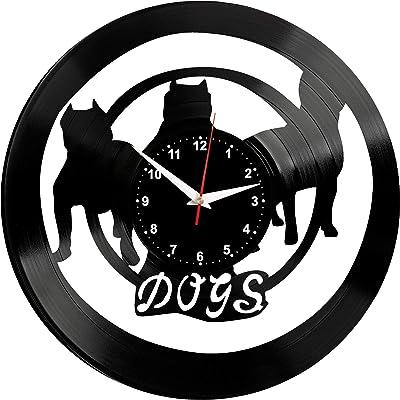 EVEVO Real madrit Reloj de Pared Vinilo Tocadiscos Retro de Reloj ...