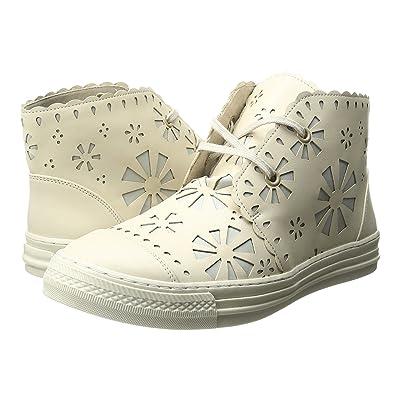 Stella McCartney Kids Alonzo High Top Daisy Cut Out Sneakers (Little Kid/Big Kid) (Beige) Girl