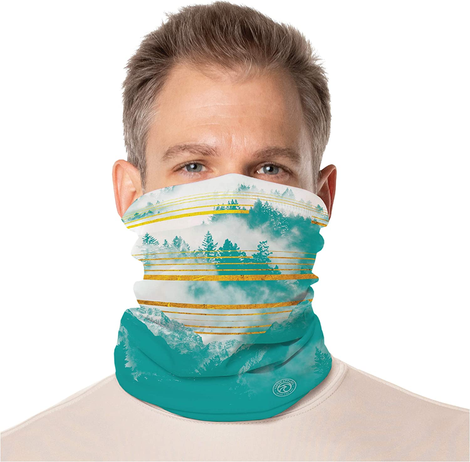 Vapor Apparel Lightweight Fleece Gaiter, Multi Use Face Cover with UPF 50+ UV Protection for Men and Women