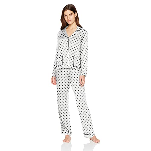Splendid Women s Button Up Long Sleeve Top and Bottom Classic Pajama Set Pj 3c56fabc5