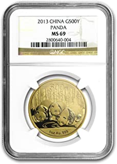 2013 CN China 1 oz Gold Panda MS-69 NGC 1 OZ MS-69 NGC
