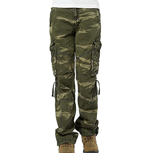 a805cac06021d Urbanboutique Womens Combat Casual Cargo Six Pocket Cotton Army Military Trousers  Pants