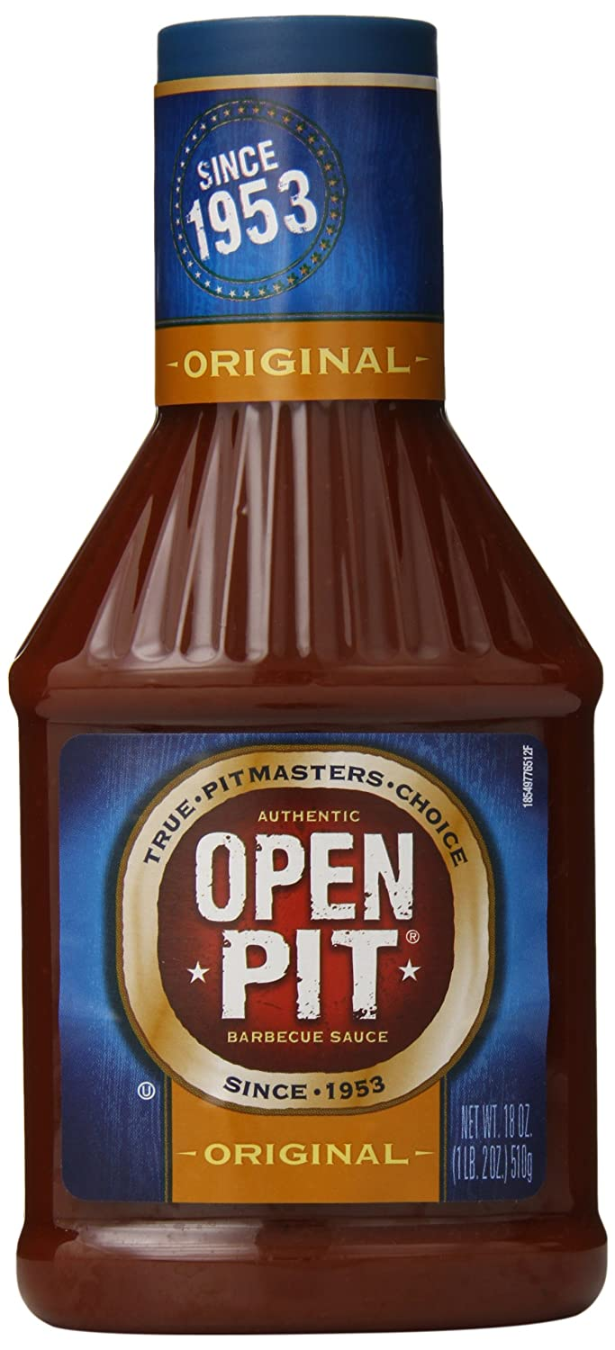Open OFFicial Max 74% OFF shop Pit Blue Label Original Barbecue 18 Sauce oz. 12 of Pack