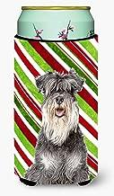 Candy Cane Holiday Christmas Schnauzer Tall Boy Beverage Insulator Hugger KJ1171TBC