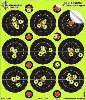 Splatterburst Targets - 3 inch Stick & Splatter Reactive Self Adhesive Shooting Targets - Gun - Rifle - Pistol - Airsoft - BB Gun - Pellet Gun - Air Rifle