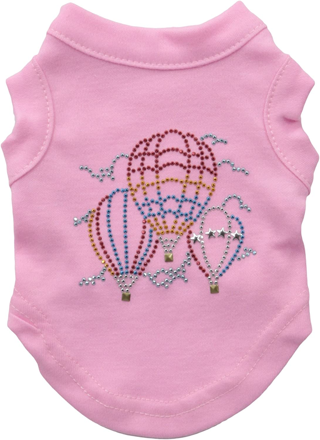 Mirage Pet Products Hot Air Balloon Rhinestone Pet Shirt, XSmall, Light Pink