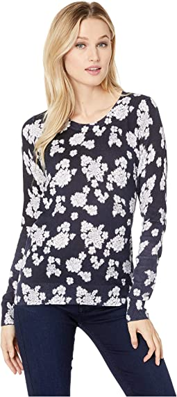 Toss Lace Crew Long Sleeve Sweater