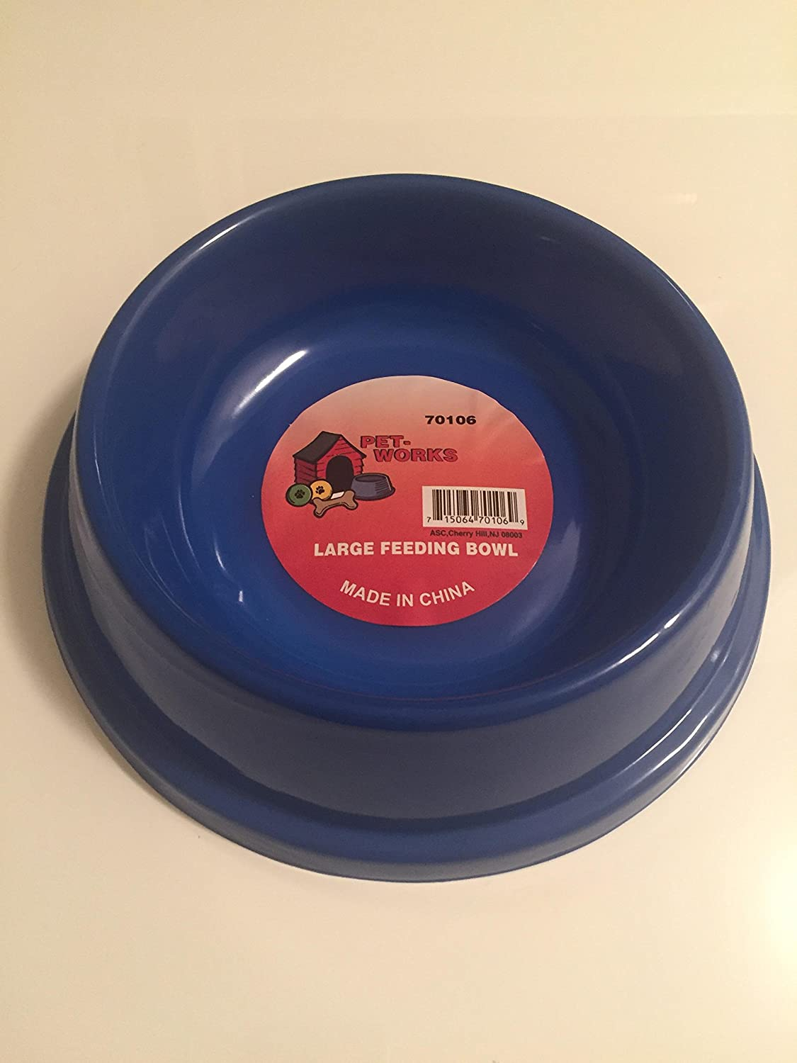 Pet Works Large Feeding Bowl bluee Light Weight