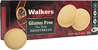Walkers Gluten Free Shortbread 140g (Pack of 6)