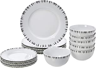 AmazonBasics 18-Piece Dinnerware Set - Bungalow, Service for 6