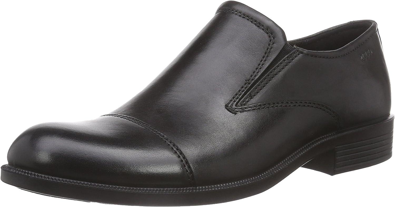 Ecco Men's Harold Cap Toe Slip On Black Slip-ons 43 M