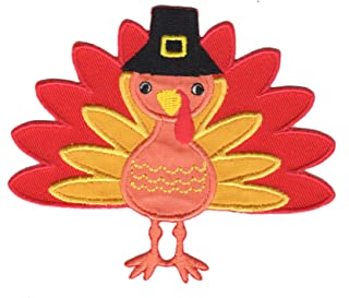 PatchMommy Thanksgiving Turkey Patch, Iron On/Sew On - Appliques for Kids Children