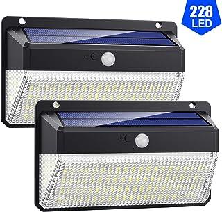 Luz Solar Exterior 228 LED, VOOE 2200mAh, 1000lm, Foco Solar