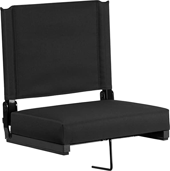 Flash Furniture Grandstand Comfort Seats By Flash With Ultra Padded Seat In Black