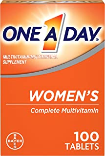 One A Day Women's Multivitamin, Supplement with Vitamin A, Vitamin C, Vitamin D, Vitamin E and Zinc for Immune Health Support, B12, Biotin, Calcium & More, 100 count