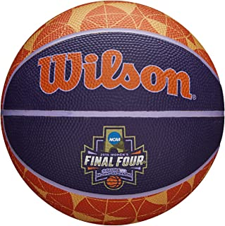Wilson Sporting Goods WTB0797IDSM18 NCAA Women's Final Four Mini Rubber Basketball, Multicolor