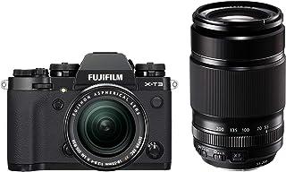 Fujifilm X-T3 systemkamera (26,1 megapixel, 7,6 cm (3 tum) skärm, pekskärm, APS-C-sensor) kit inkl. XF18-55 mmF2.8-4 R LM ...