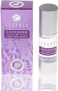 Serum facial calmante con aceite esencial de lavanda búlgara Leganza