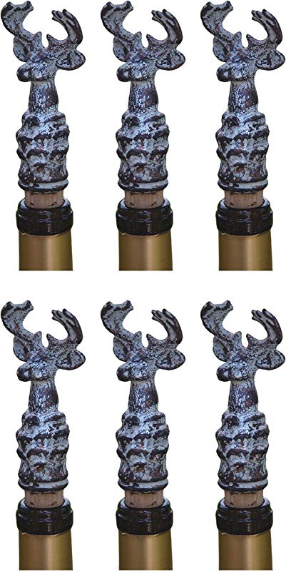 Manual The Buck Stops Here The Shed Collection Iron And Cork Wine Bottle Stoppers IMBHWS Set Of 6