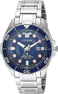 Citizen - Reloj Eco-Drive de cuarzo para hombre con correa de titanio, plateado, 22 (Modelo: BN0208-54W)