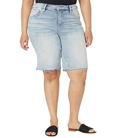 Jag Jeans Plus Size The City Shorts in High-Rise Women