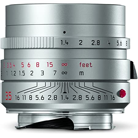 Leica 11675 Summilux-M 35mm f/1.4 ASPH Wide-Angle Lens, Silver