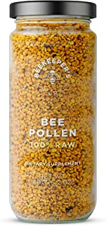 BEEKEEPER'S NATURALS Bee Pollen - 100% Raw Bee Pollen Granules, Natural Preserved Enzymes, Source of Vitamin B, Minerals, ...