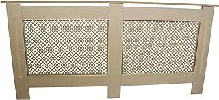 comprar comparacion Cubierta de radiador Natural sin terminar MDF Madera Trellised Grill Moderna calefacción Muebles hogar Armario Estante 1720mm