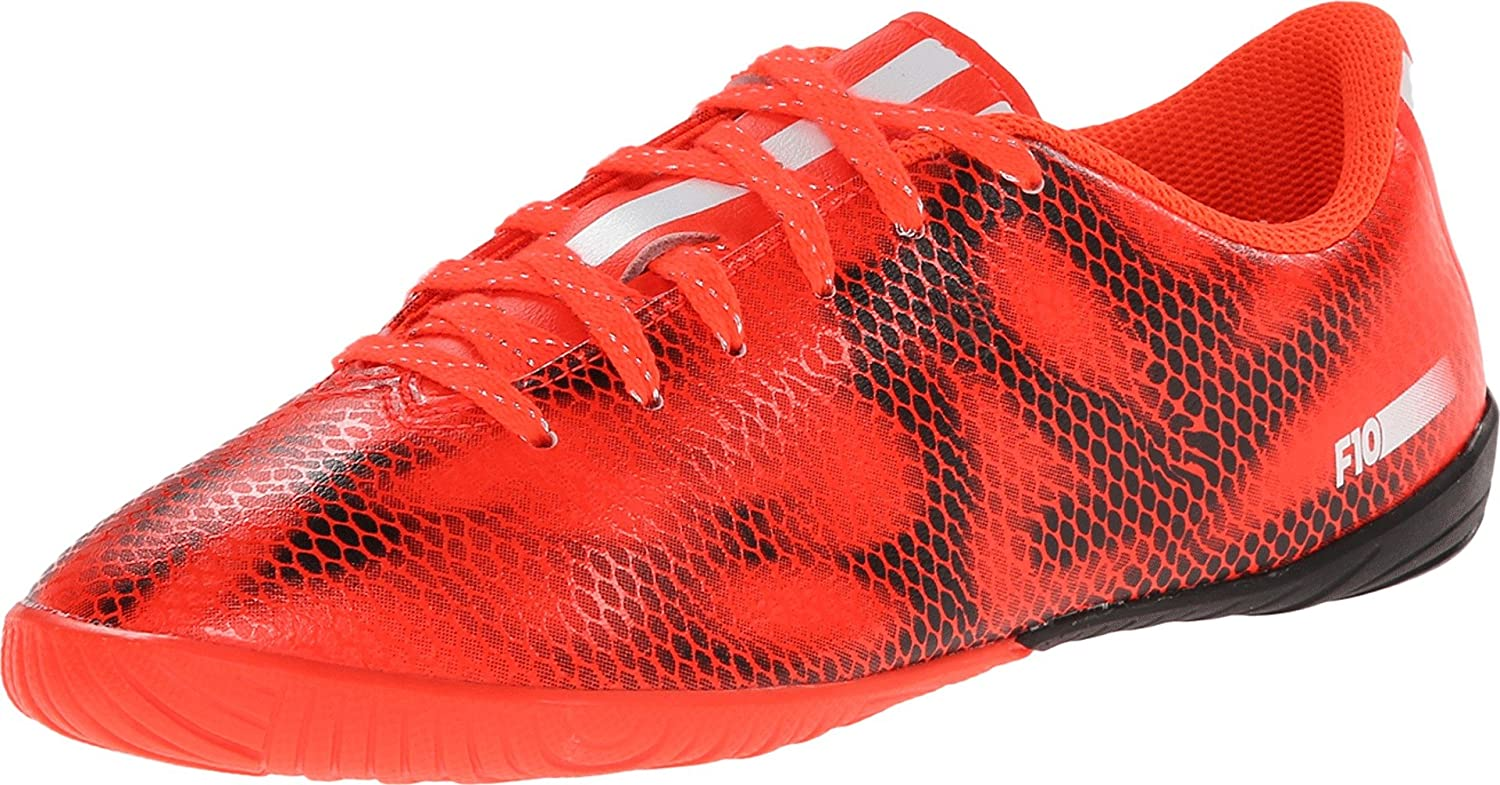 adidas F10 Youth Indoor Shoes (Solred/FTWWHT/CBLACK) (13.5)