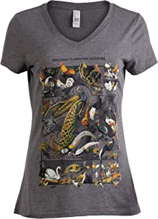 Vintage Bird Art | Nature Birding Watcher Watching Ornithology V-Neck T-Shirt for Women
