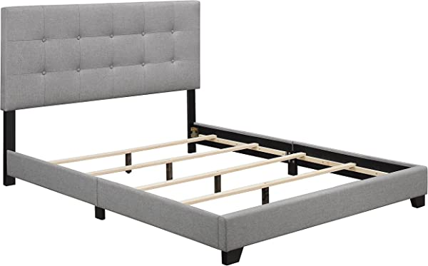 Pulaski Glacier Biscuit Tufted Upholstered Bed Queen