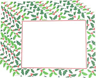 Combined Holiday Paper Placemats for Parties - Disposable Christmas Paper Placemats - for Fall Weddings, Dinner Party or Birthday - 36 Total Paper Place Mats