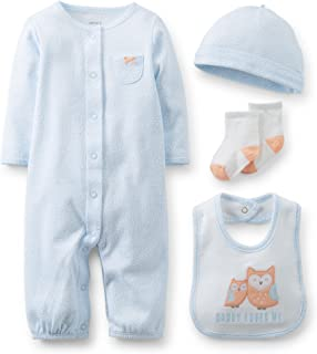 Burgundy//Gray Carters Baby Infant Happy Heart 2-Piece Layette Set 9 Months