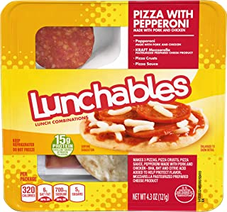 lunchables deep dish pizza with pepperoni