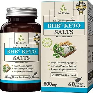 Isle Revive Keto BHB Pills - Premium Grade Exogenous Ketone Beta Hydroxybutyrate Supplement Diet Pills 800mg (2 Capsules Per Day, 30 Day Supply) Magnesium Beta, Ketosis, Weight Loss, Calcium Beta