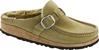 Women's Buckley Shearling Suede Clog, Olive Tree