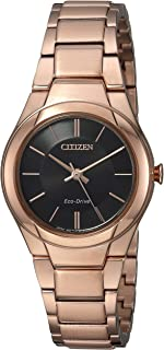 Citizen Women's Eco-Drive Japanese-Quartz Watch with Stainless-Steel Strap, Pink, 16 (Model: FE2093-54E)
