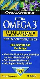 OmegaWorks Ultra Omega 3, EPA / DHA Fatty Acids, Joint Health, Enteric Coated 30 softgels, 30 servings